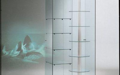 Designer Vitrine Black and white 90/G