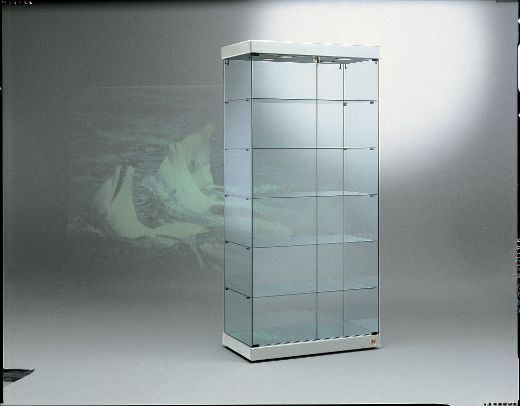 Designer Vitrine silber Black and white 90/S