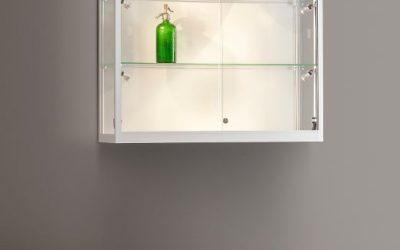 Wand-Vitrine 111 1000-Side Light-Tech / silber eloxiert