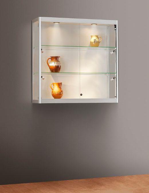 Wand-Vitrine Tech / silber eloxiert 115 1000-W-Side Light