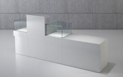 Shop Vitrine Quadratum Rahmen 1 x Art. Q/10B + 2 x Art. Q/5BC + 1 x Art. Q/5B
