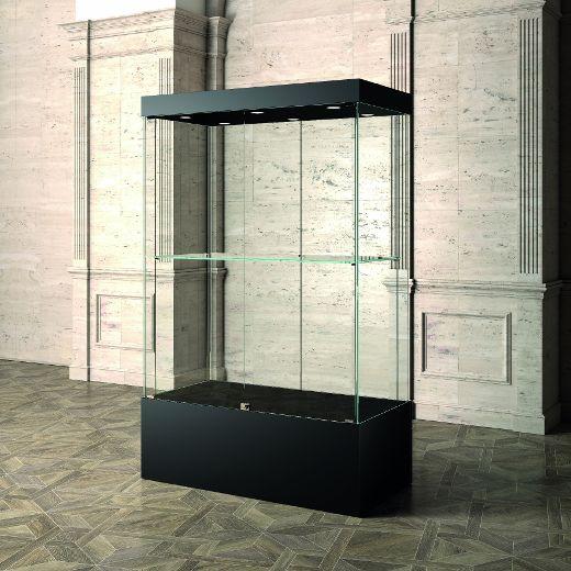Museums-Vitrine Schwarz MU / 120 – schwarz