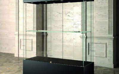 Museums-Vitrine MU / 160 – schwarz