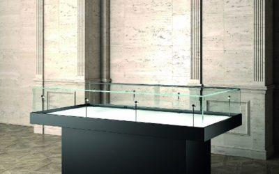 Museums-Vitrine MU / 180 TU – schwarz