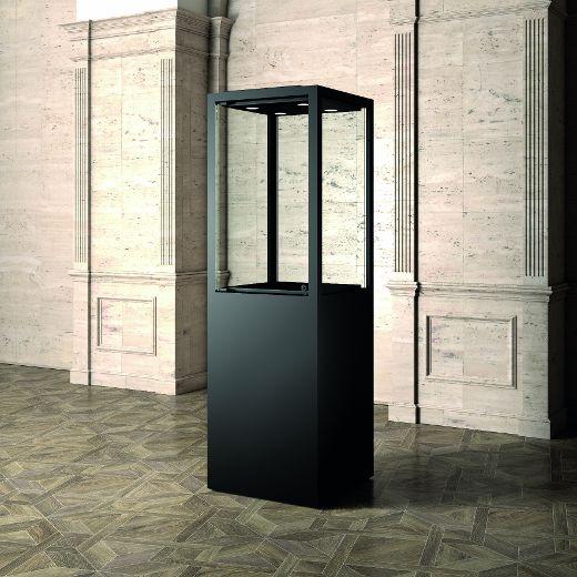 Museums-Vitrine Schwarz MUS / 60 – schwarz