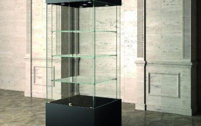 Museums-Vitrine MU / 80 – schwarz