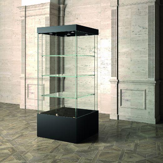 Museums-Vitrine Schwarz MU / 80 – schwarz