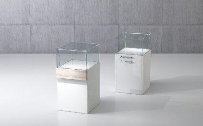 Shop Vitrine Quadratum Rahmen QF/5B-weiss hochglanz