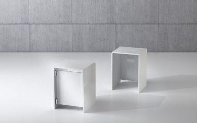 Shop Vitrine Quadratum Rahmen QF/5P-weiss hochglanz