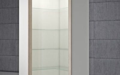 Shop Vitrine Quadratum Rahmen QF/A-weiss hochglanz