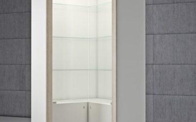 Shop Vitrine Quadratum Rahmen QF/AA-weiss hochglanz