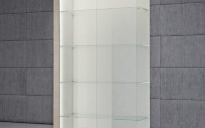 Shop Vitrine Quadratum Rahmen QF/C-weiss hochglanz