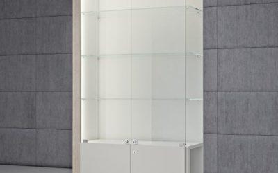 Shop Vitrine Quadratum Rahmen QF/CA-weiss hochglanz