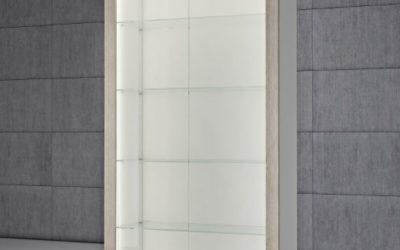 Shop Vitrine Quadratum Rahmen QF/S-weiss hochglanz