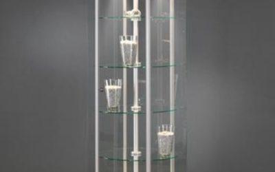 Shop Vitrine 614-100-Tech / silber eloxiert mit Crouzet Motor