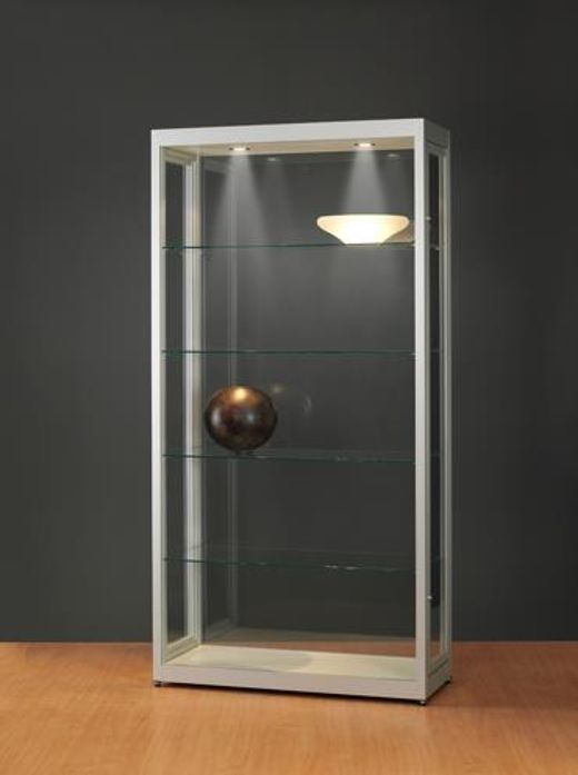 Museums-Vitrine Tech / silber eloxiert V8 1000 – Light – Tech