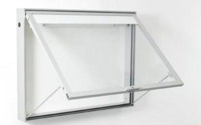 Schaukasten Tech / silber eloxiert 6025 4xA4-silber
