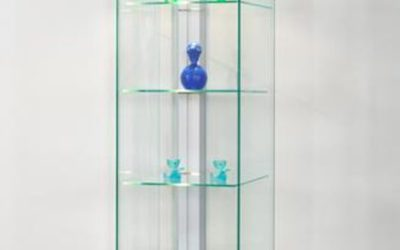 Designer Vitrine Linea 50 Silber RAL 9006
