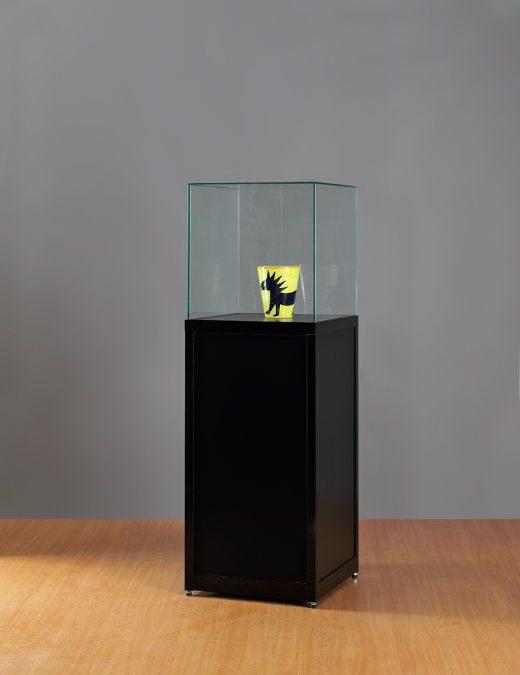Museums-Vitrine Schwarz SV1 500 – 1500 – O schwarz
