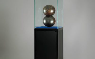 Museums-Vitrine Schwarz SV1 – 1800 – O schwarz