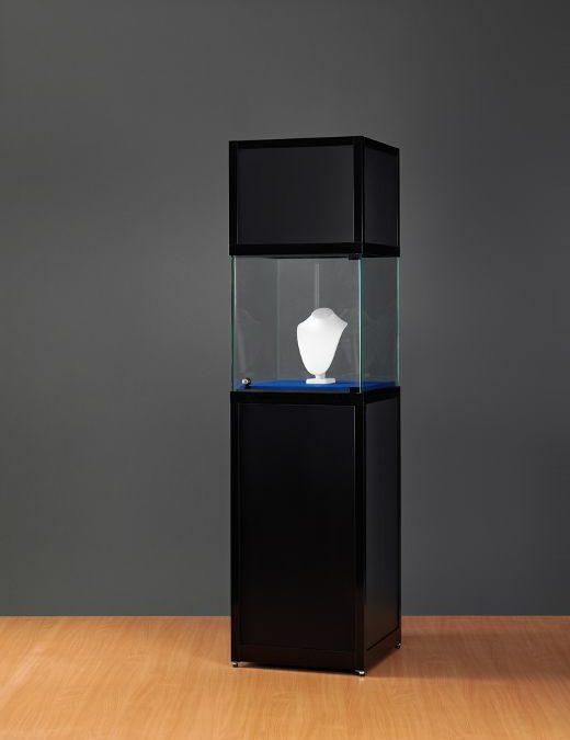 Museums-Vitrine Schwarz SV1 – 2200 – 800 – O schwarz