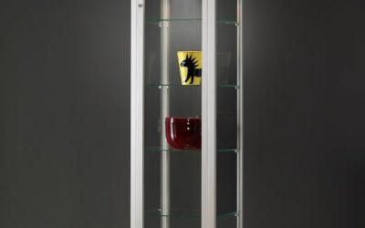 Museums-Vitrine V8 500 -Tech / silber eloxiert