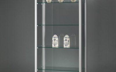 Museums-Vitrine Tech / silber eloxiert V8 800 – Tech
