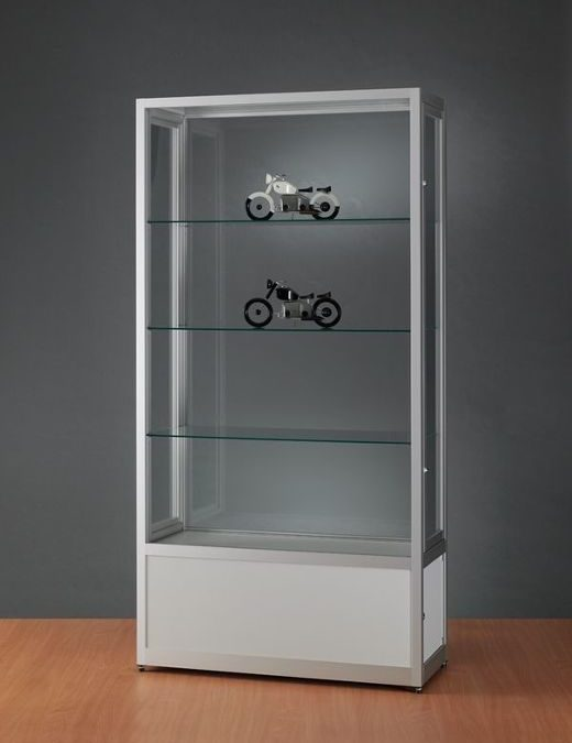 Museums-Vitrine Tech / silber eloxiert V8 1000 – O – Tech