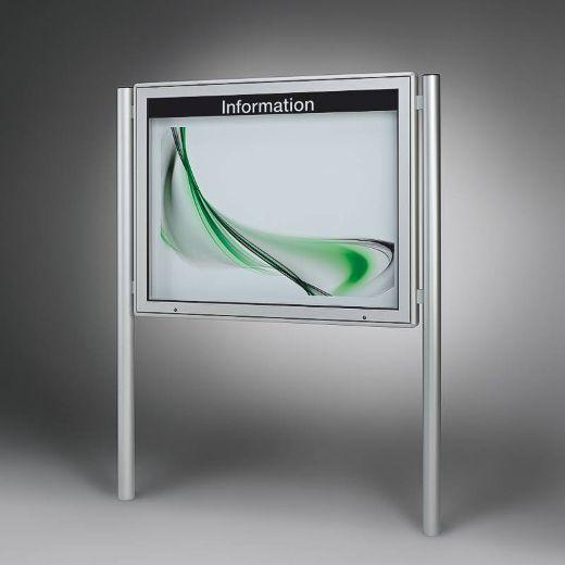 Schaukasten Tech / Plenum, 16 x DIN A4, rund PLENUM G mit Standbeinen
