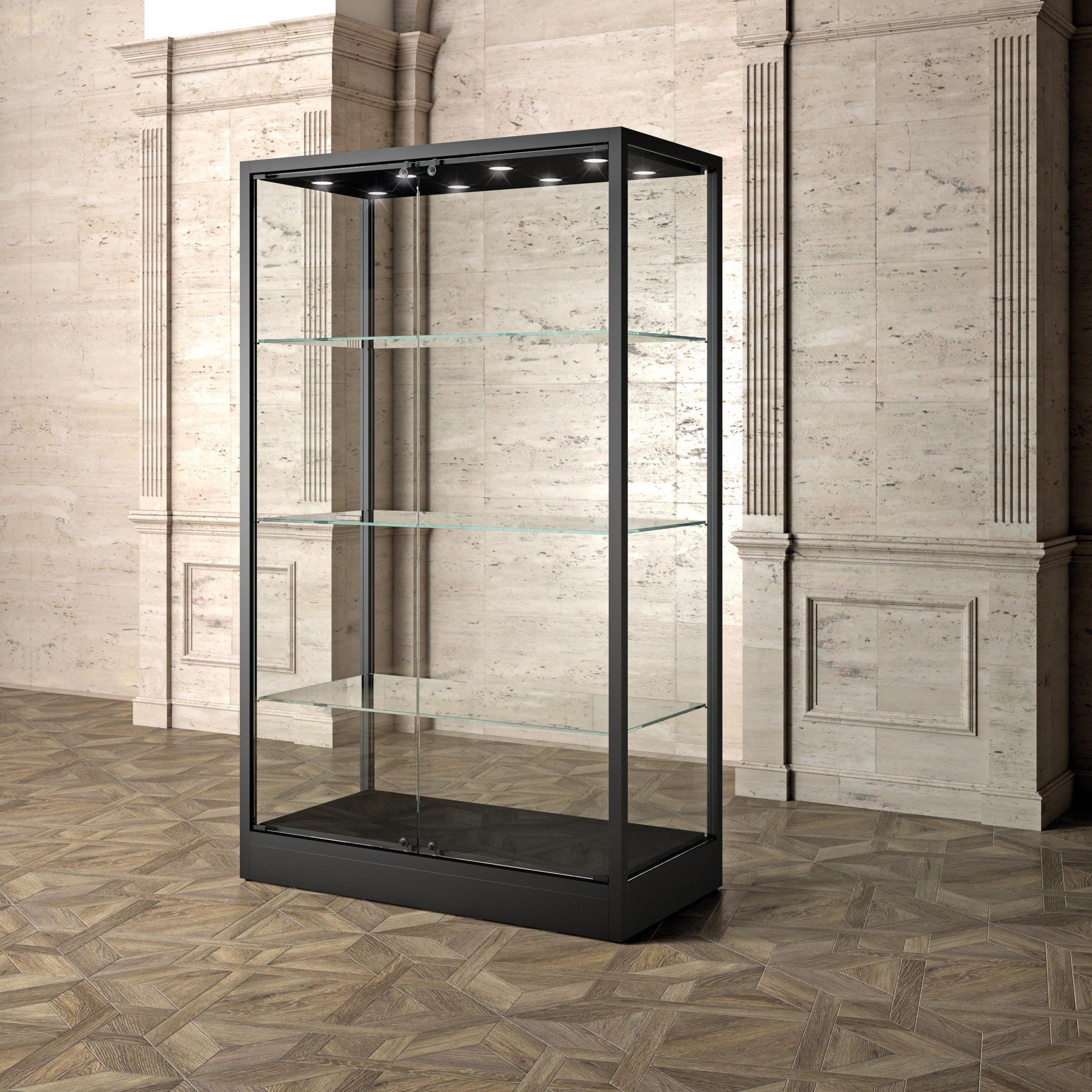 Museums Vitrine MU/120FC – schwarz