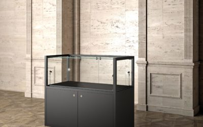 Museums-Vitrine MU / 60FTM – schwarz