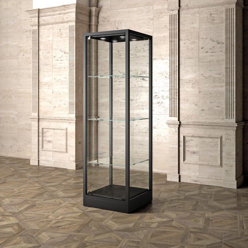 Museums Vitrine MU/60FC – schwarz