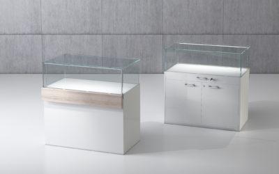 Shop Vitrine Quadratum Rahmen QF/10B-weiss hochglanz